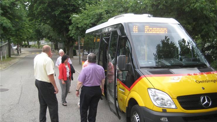 Das «Oensingerli,» wurde für den Transport auf den Roggen zur Gemeindeversammlung eingesetzt.