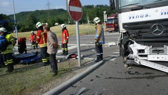 Rheinfelden Unfall mit spanischem Laster