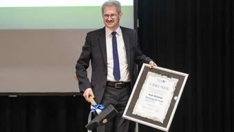 Der Rücktritt von Kurt Schmid als Präsident des Aargauischen Gewerbeverbandes stand ganz im Zeichen von Corona.