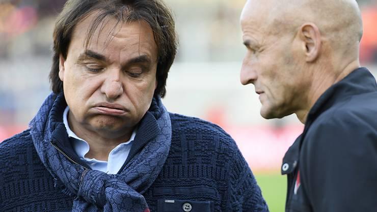 Wie lange hält die Partnerschaft zwischen Präsident Christian Constantin und Trainer Peter Zeidler beim FC Sion noch?