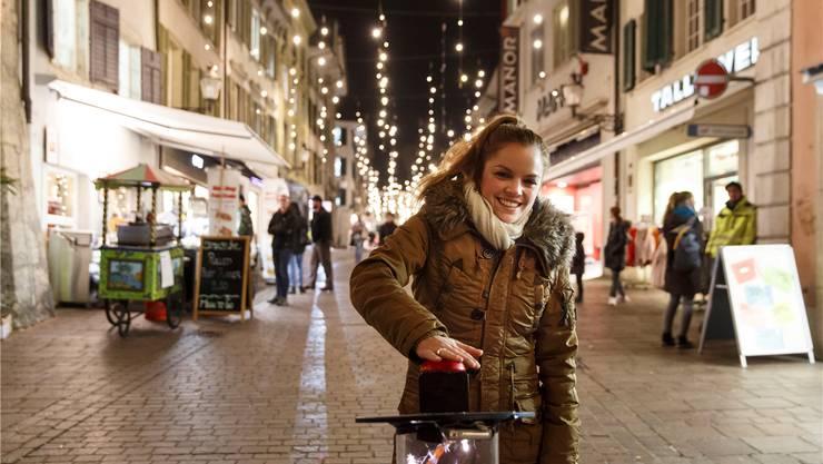 Fabienne Brunner aus Steinhof drückt den Auslöser