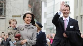 Prinz Joachim mit Frau Marie und Sohn Henrik (Archiv)