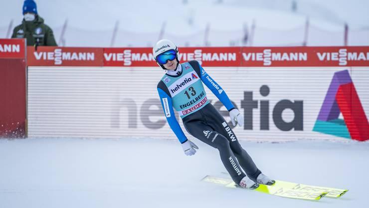Simon Ammann (39) kann sich ein wenig steigern. Dem Toggenburger gelingt die Quali für das Bergisel-Springen in Innsbruck. (Archiv)