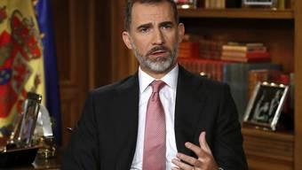Der spanische König Felipe bei der Weihnachtsansprache.
