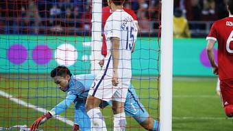 Südkoreas Goalie Kim Seung-Gyu musste in Moskau viermal hinter sich greifen