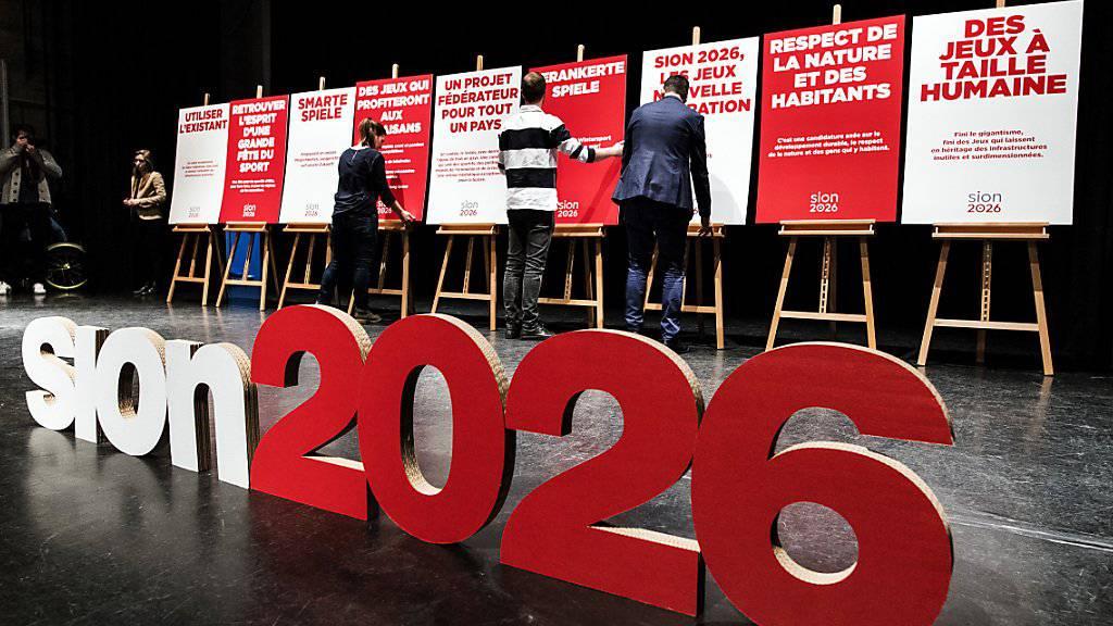Die Ja-Kampagne zur Abstimmung im Wallis für Olympische Winterspiele 2026 in Sitten war am Dienstag lanciert worden. (Archivbild)