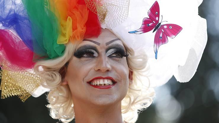 Schwuler Stolz in Jerusalem an der Gay Pride Parade.