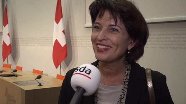 Ja zum Energiegesetz - Doris Leuthard erfreut über klares Ja