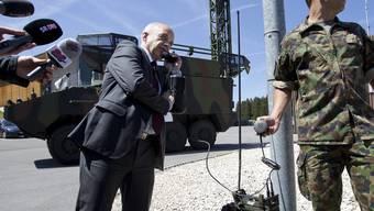 Bundesrat Ueli Maurer am Kasernengespräch