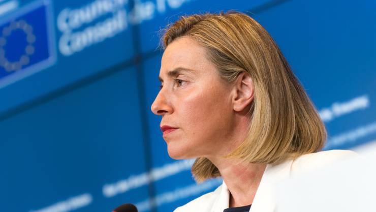 Sie lud zum ausserordentlichen Treffen nach der Trump-Wahl: Die EU-Aussenbeauftragte Federica Mogherini. (Archivbild)