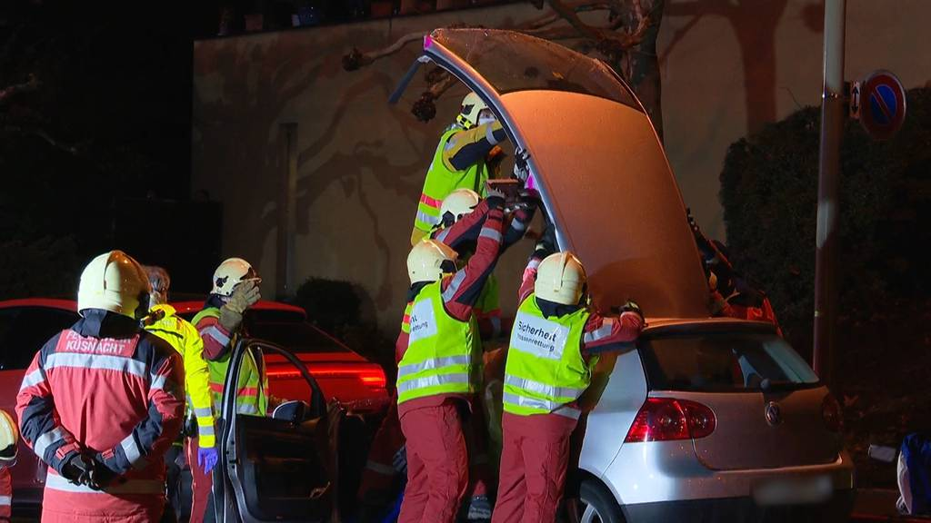 Auffahrunfall in Küsnacht (ZH): 23-Jährige aus Autowrack befreit