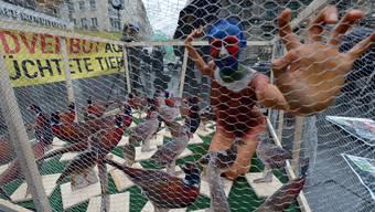 Tierschützer-Demo in Österreich (Symbolbild)