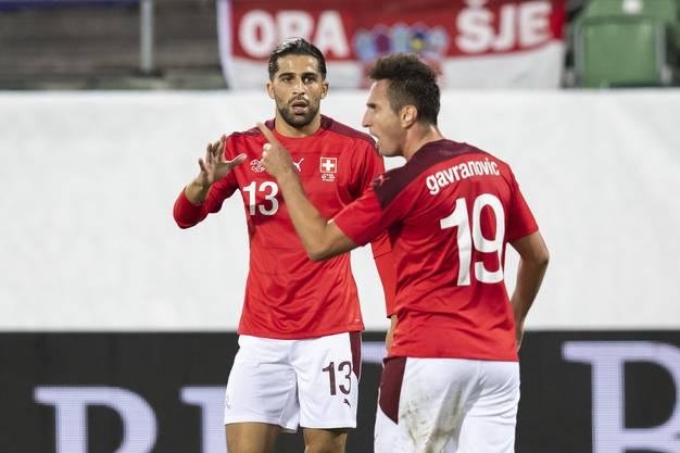 Erzielt in der 31. Minute das 1:0-Fühurngstor für die Schweiz: Mit der Numer 19 Mario Gavranovic