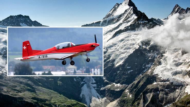 Eine PC-7 der Schweizer Luftwaffe stürzt während eines Trainingsfluges von Payerne nach Locarno im Gebiet Schreckhorn in den Berner Alpen ab. Der Pilot kommt ums Leben.