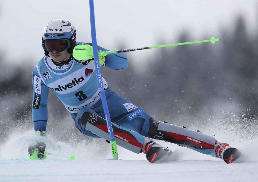 Henrik Kristoffersen gewinnt den Slalom in Adelboden (© AP/Shinichiro Tanaka)