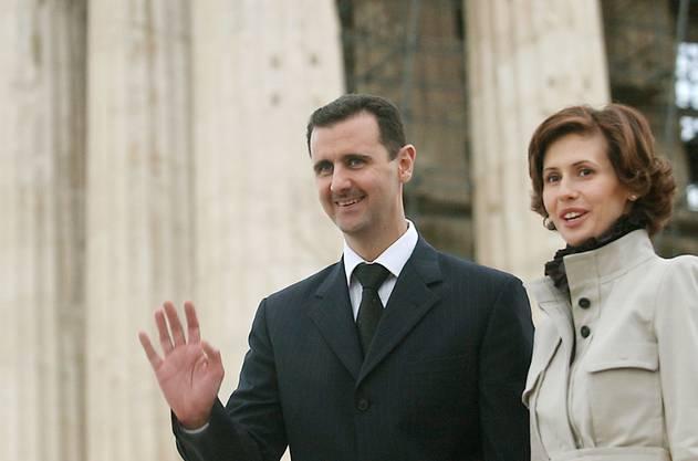 Bashar Assad mit Frau Asma