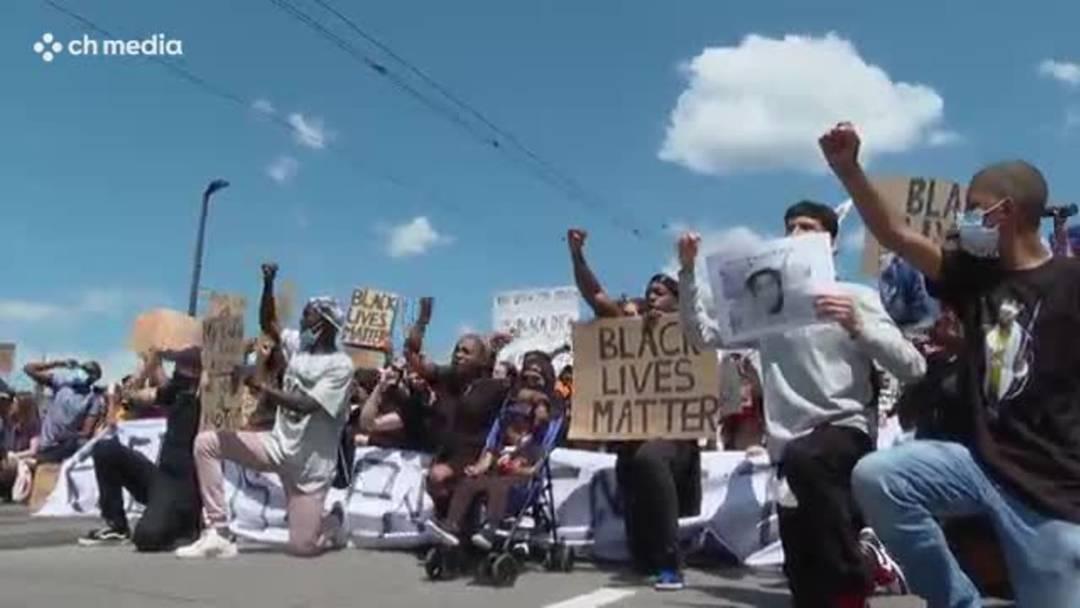 Black lives matter: Tausende protestierten in Schweizer Städten gegen Rassismus