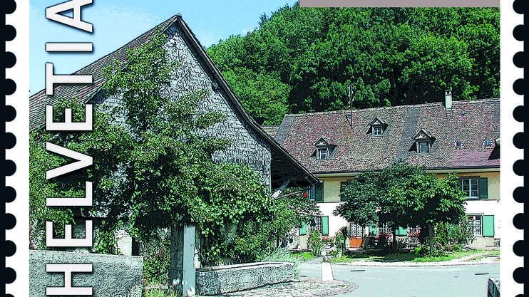 2002 war die Gemeinde Oberdorf auf einer Marke abgebildet
