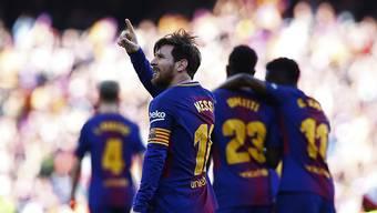 Lionel Messi feiert seinen Treffer zum 2:0