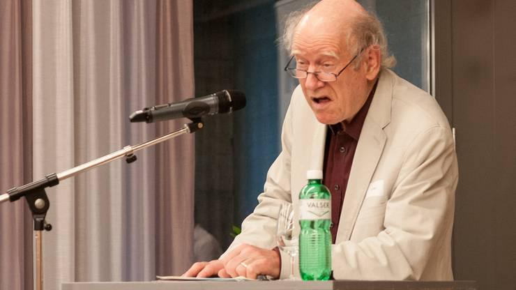 ... auf die Schlieremerin hielt Franz Hohler, der schon lange mit Brühlmann-Jecklin befreundet ist.