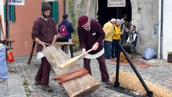 Das Historische Handwerk wie hier im Vorjahr kann 2020 in Bremgarten beim Herbstmarkt nicht gezeigt werden.