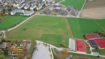 Blick auf das Areal Neumatt Ost in Stein, das als Standort für die Mittelschule in Frage kommt.