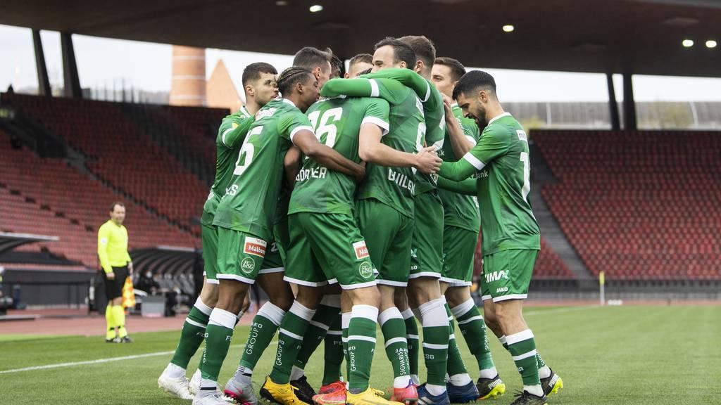 Der FC St.Gallen gewinnt mit 2:1 gegen GC und steht im Cup-Halbfinal
