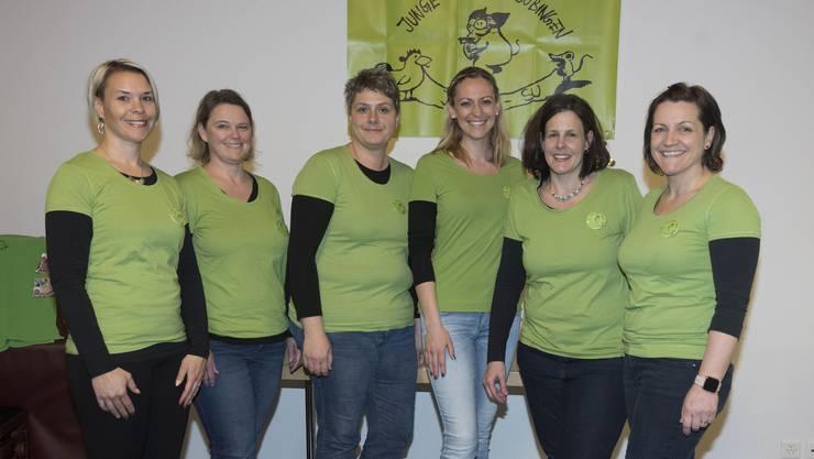 Verein Junge Familie (v. links): Julia Spitz, Andrea Fluri, Daniela Bärtschi, Ivonne Keller, Nicole Jost und Agi Stettler.