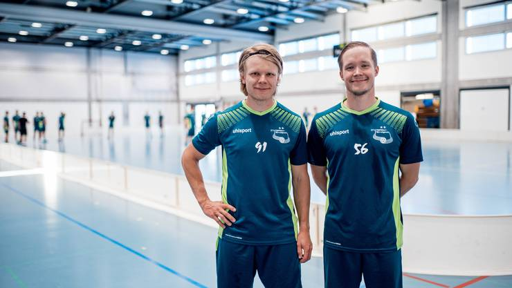 Joonas Pylsy (l.) und Krister Savonen sind seit 2019 bei Wiler-Ersigen. Jetzt soll es mit dem ersten Meistertitel klappen.
