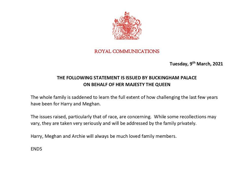 Offizielles Statement des britischen Königshauses