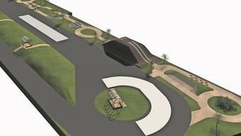 Rund 420 Quadratmeter gross ist der Übungshügel für Offroader, den die Antischleuderschule in Regensdorf bauen will.