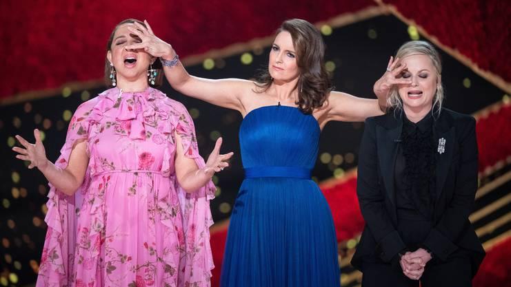 Sie wollten für Lachern sorgen: Die Schauspielerinnen Rashida Jones, Tina Fey und Amy Poehler.