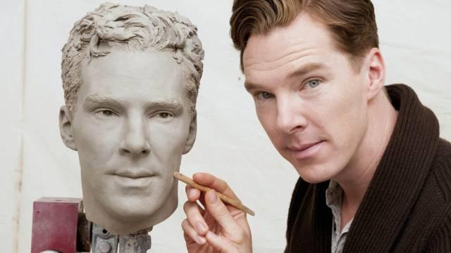 Benedict Cumberbatch und sein Tussauds-Double (Archiv)