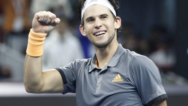 Im Hoch und gegen Federer immer gefährlich: der Österreicher Dominic Thiem