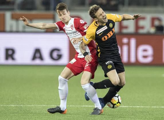 Sandro Lauper (links) ist der nächste Thun-Spieler welcher zum Kantonsrivalen YB wechselt. Dennis Hediger gönnt ihm diesen Wechsel.