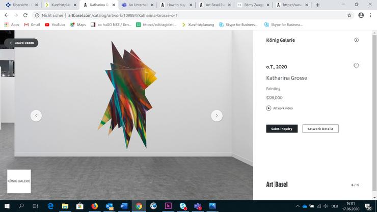 Die Arbeit von Katharina Grosse bei der Galerie König. Sie war für 228'000 Dollar zu haben.