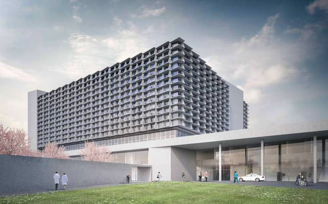 So wird das neue Bürgerspital visualisiert. Am 18.August 2014 starten die Vorbereitungsarbeiten für den Neubau.