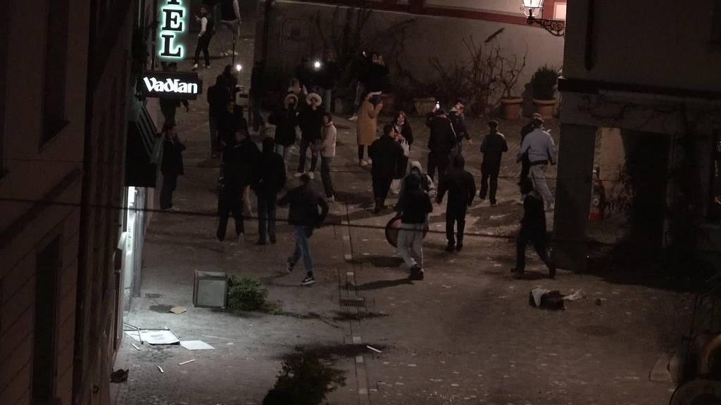 Nach aufgelöster Party: Junge randalieren in St.Gallen