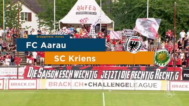Challenge League, 2018/19, 3. Runde, FC Aarau– Kriens, 0:2, Highlights