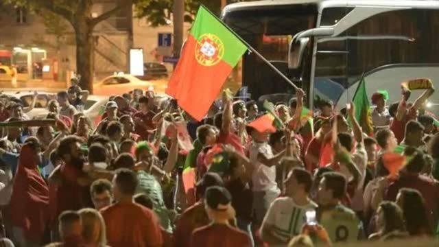 Portugal-Fans feiern in Bern und Lausanne