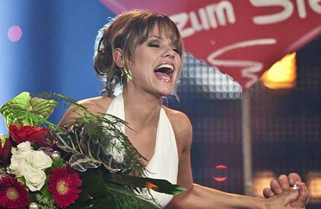 Francine Jordi freut sich über den Sieg