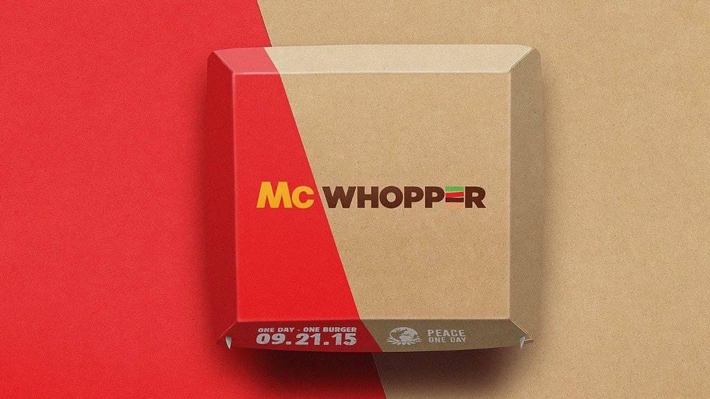 """In dieser Verpackung hätte Burger King den """"McWhopper"""" verkaufen wollen. Doch dazu kommt es nicht. McDonald's hat abgelehnt."""