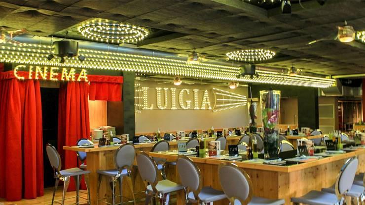 Ein Merkmal der Luigia-Restaurants: Ein Mini-Kino für die jungen Gäste.