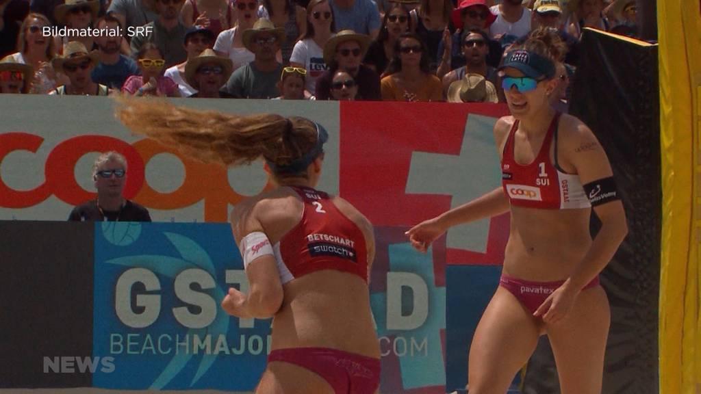 Beachvolleyball Gstaad Major: Schweizerinnen auf Rang 4