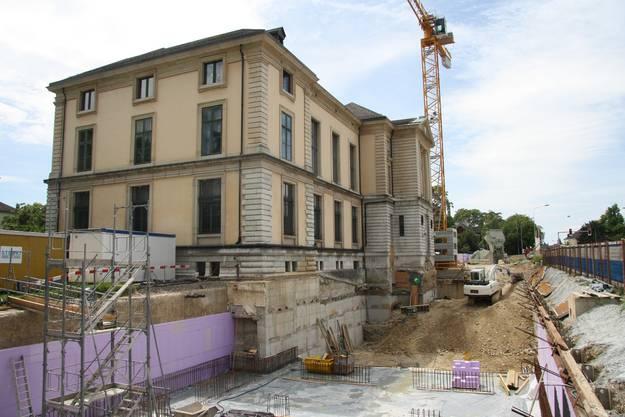 Die Unterfangungsarbeiten unter der Nordfassade wurden vorerst gestoppt