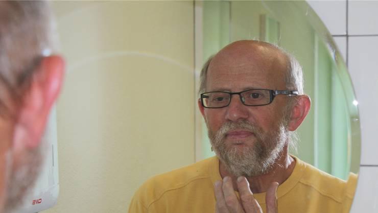 Momentan trägt er den Bart kürzer, doch Bernhard Bösch lässt seine Gesichtsbehaarung wieder wachsen. gep