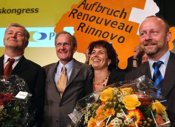 Fünf Jahre nach ihrer Wahl ins Parlament wurde sie 2004 als Nachfolgerin von Philipp Stähelin zur Parteipräsidentin gewählt.