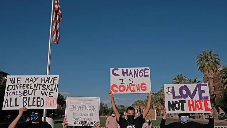 Nach dem Tod von George Floyd hatte es Anfang Juni auch in Tucson Demonstrationen gegeben. Foto: Christopher Brown/ZUMA Wire/dpa