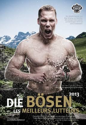 Matthias Sempach auf dem Titelbild für den Kalender «Die Bösen»