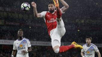 Olivier Giroud und Arsenal droht das Verpassen der Champions League